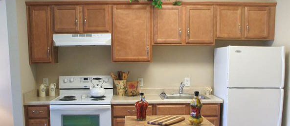 Va unit kitchen Bentley Commons at Lynchburg - Independent Living