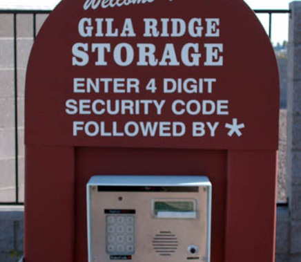 Access security az Yuma Gila Ridge Self Storage