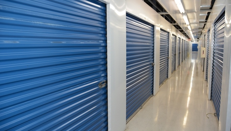 Indoor storage units at Hide-Away-Storage in Tampa