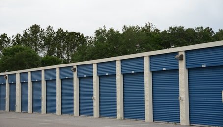 Outdoor storage units at Hide-Away-Storage in Tampa