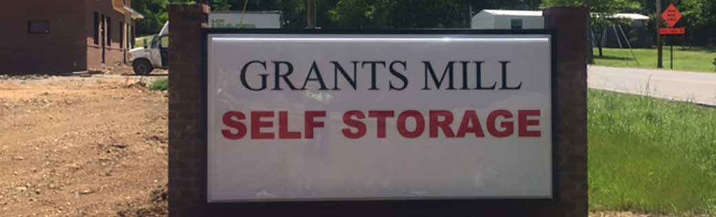 Grants Mill Self Storage front sign