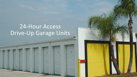 24 hour access drive up storage units