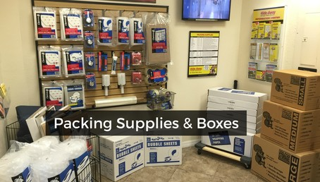 Central packing supplies and boxes
