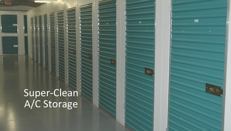 Air conditioned storage units