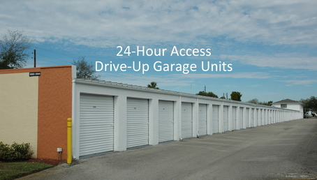 24 hour access drive up garage storage units