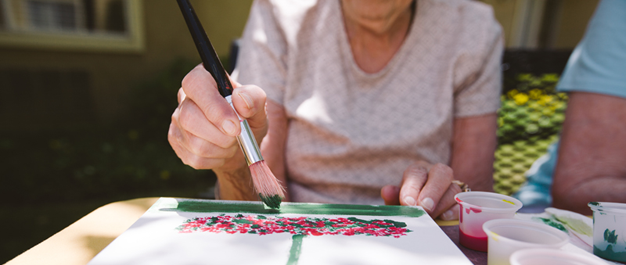 Claremont Place Assisted Living Art Class