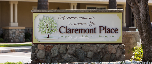 Claremont Place Assisted Living Welcome Sign