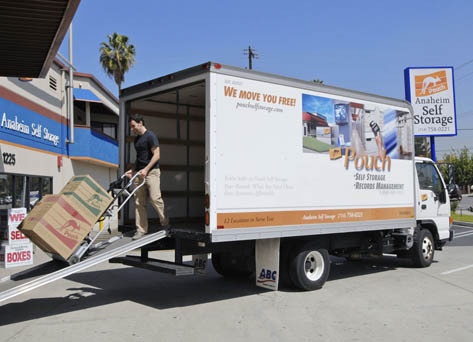 Anaheim ca rental truck Pouch Self Storage