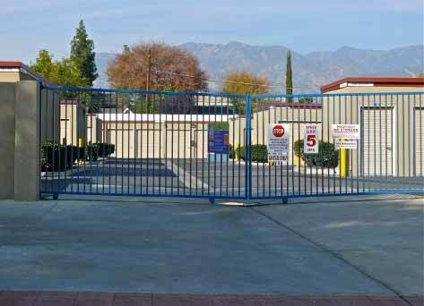 Pasadena office gate 12 14 09 Pouch Self Storage