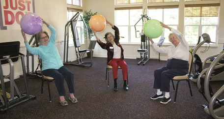 Resident fitness with balls
