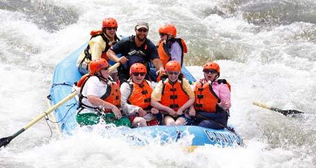 Rafting residents Summit Glen