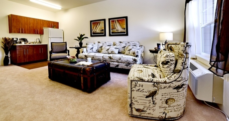 Living area at The Bradley Gracious Retirement Living