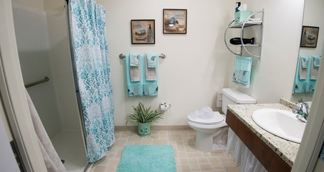 Bathroom at Azalea Estates Gracious Retirement Living