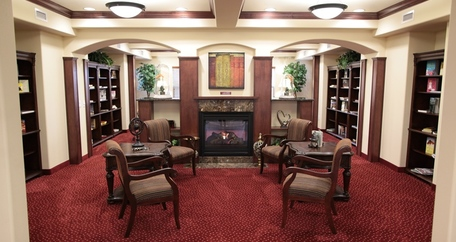 Library at Azalea Estates Gracious Retirement Living