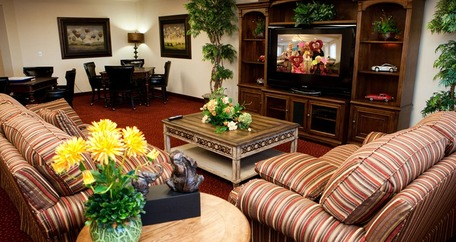 TV room at Azalea Estates Gracious Retirement Living