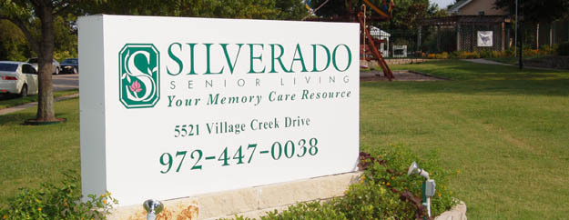 Silverado assisted senior living sign in Plano Texas
