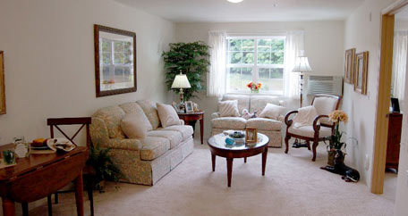 Living room with window Carolina Estates