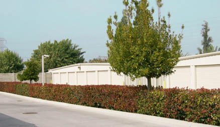 Storage units in Modesto California.