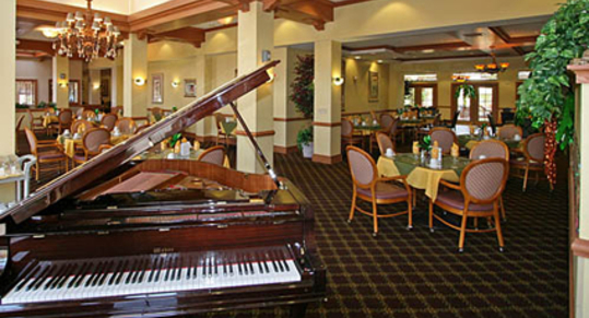 Courtyard grand piano