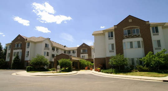 Senior living community at Caley Ridge in Englewood, CO