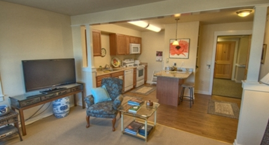 Northwing one bedroom apt entrance Chandler\'s Square Retirement Community