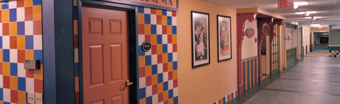 Decorated hallway at Orchards senior community in Jackson