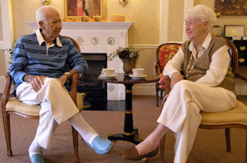 Couple enjoying time together at Chelea Senior Living in Bridgewater