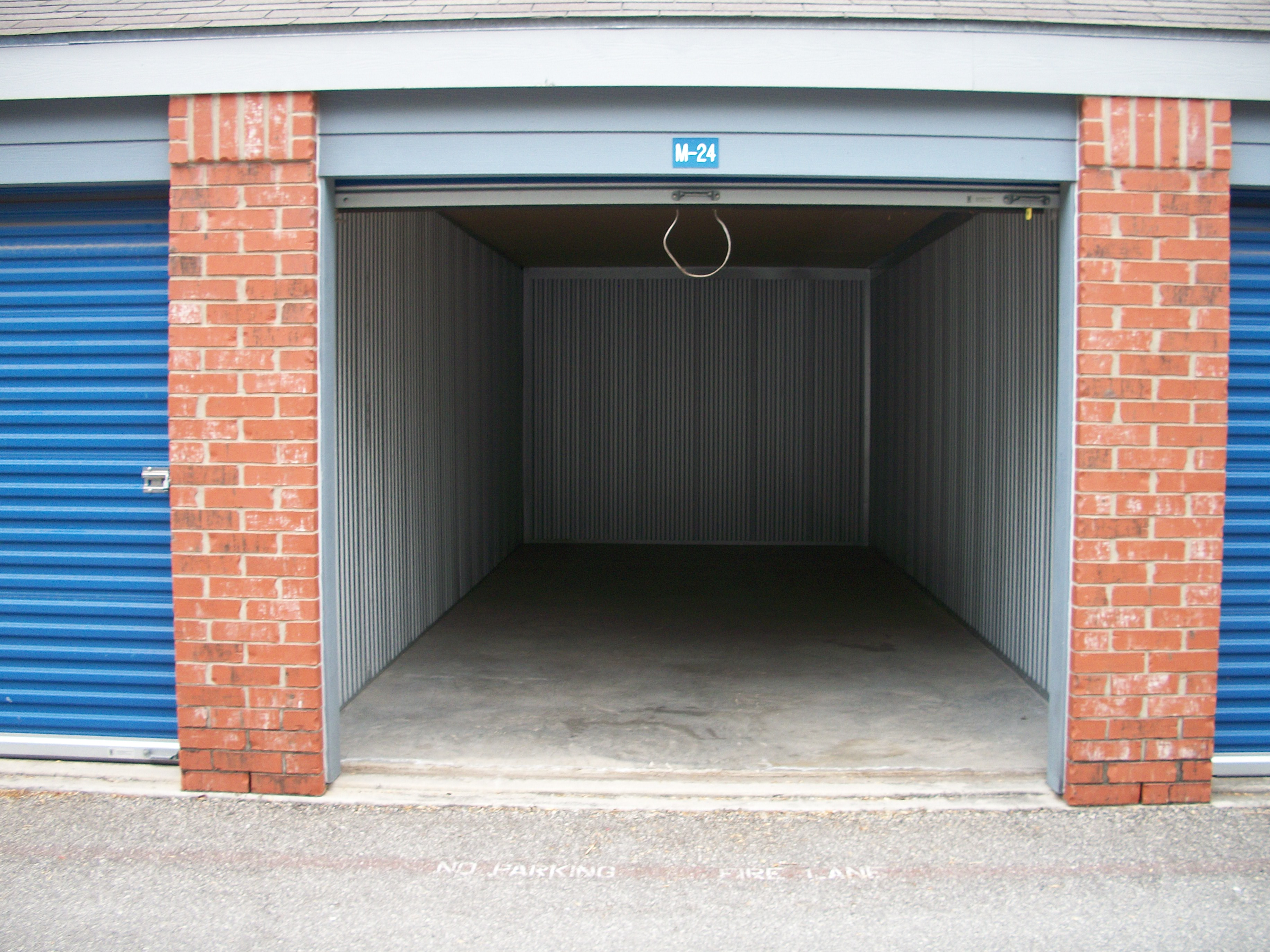 open unit clean Security Self Storage