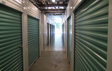 Interior hallways Airport Self Storage