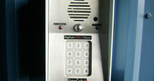 Keypad at West Spokane self storage ABC Mini Storage