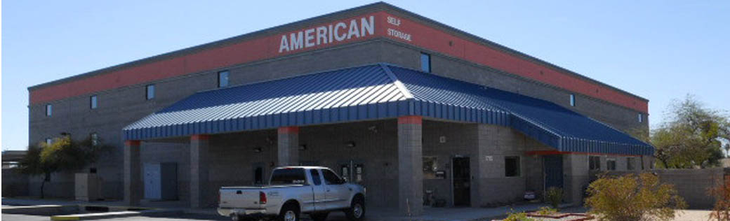 Front exterior view of self storage in Yuma, AZ