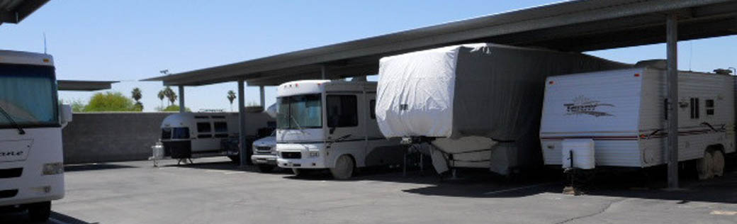Covered RV storage is available in Yuma, AZ