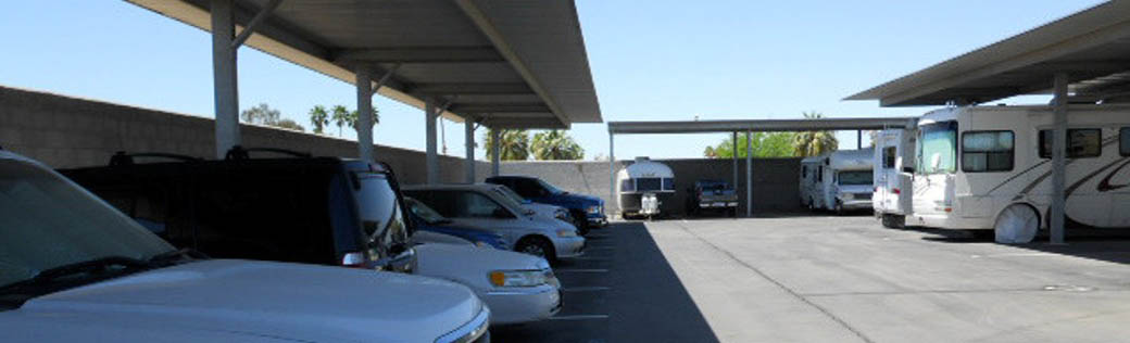 Store your RV at self storage in Yuma