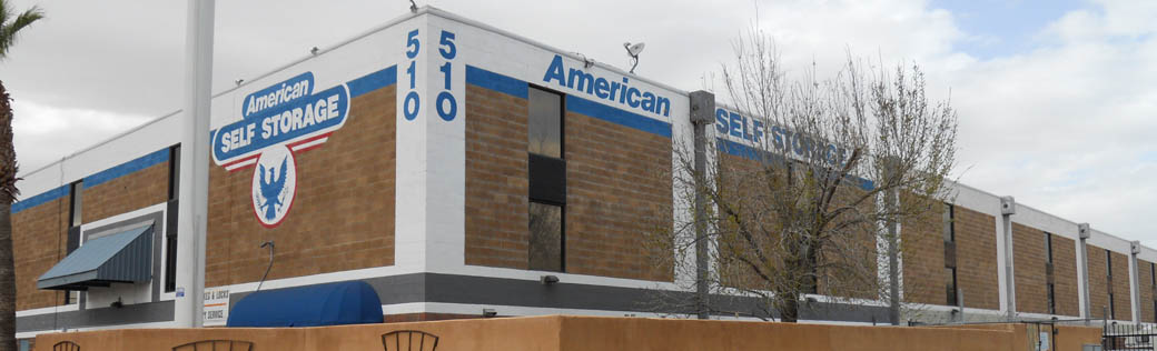 Exterior view of self storage in Tucson