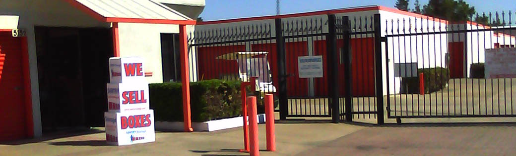 Self storage in Sacramento has a gated entrance
