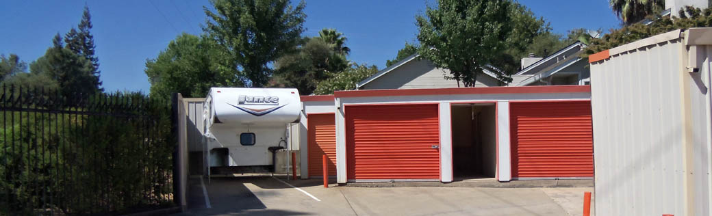 RV and camper storage in Folsom, CA