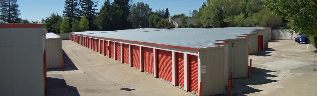 View of the self storage facility in Folsom