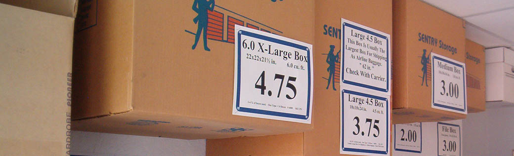 Purchase packing and moving supplies at self storage in Rancho Cordova