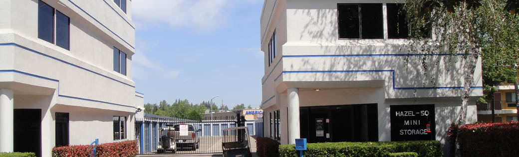 Welcome to the self storage facility in Rancho Cordova