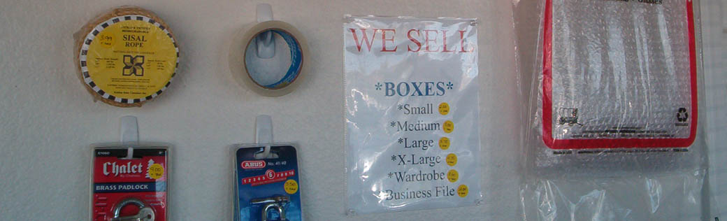 Packing supplies are available at the self storage facility in Elk Grove