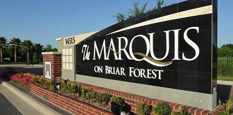 Sign Marquis on Briar Forest