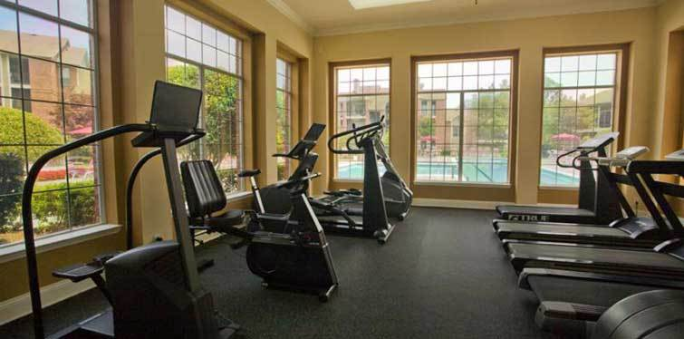 Fitness center pool view Marquis at Preston