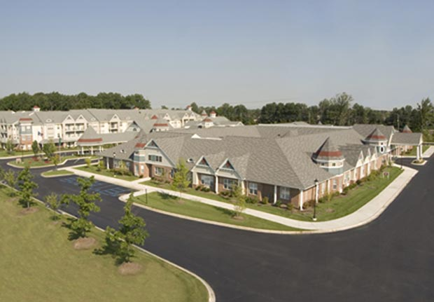 Exterior Facility Aerial View of Waltonwood at Cherry Hill