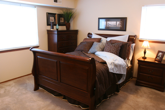 Streetsboro apartments master bedroom