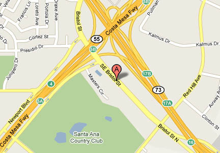 Self Storage facility map Costa Mesa Extra Storage Newport Mesa
