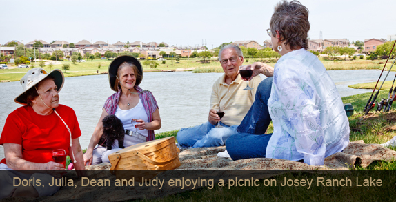 Doris julia dean judy picnic lake Lakeview at Josey Ranch