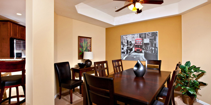 A unit dining room Plaza Village Senior Living
