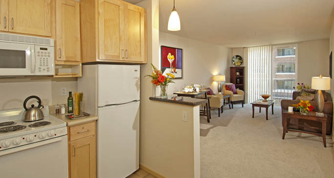 Retirement living apartment in seattle washington at The Ballard Landmark at GenCare Community