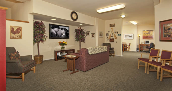 Retirement community common area GenCare Granite Falls at The Village