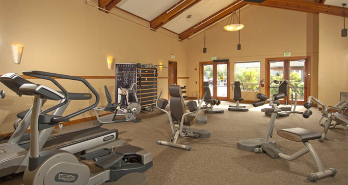 Retirement living fitness center at GenCare Renton at The Lodge